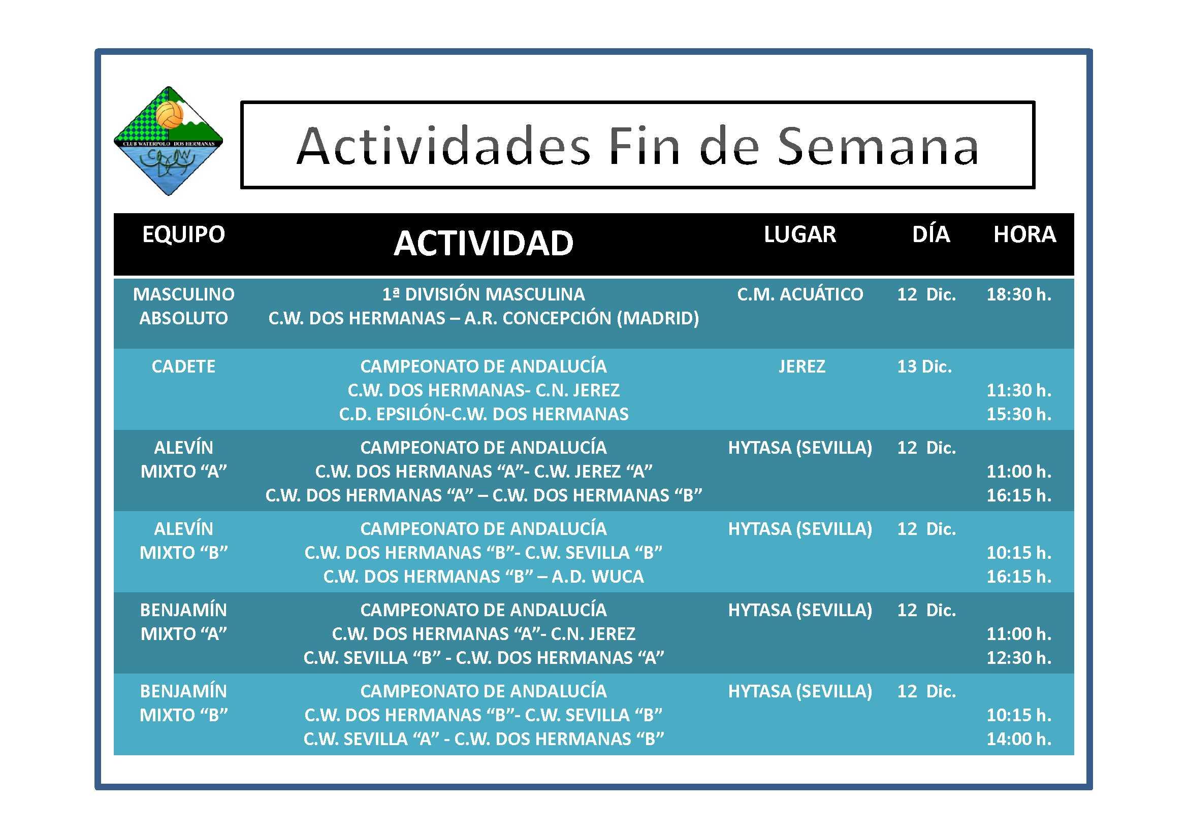 Agenda 12-13 Diciembre