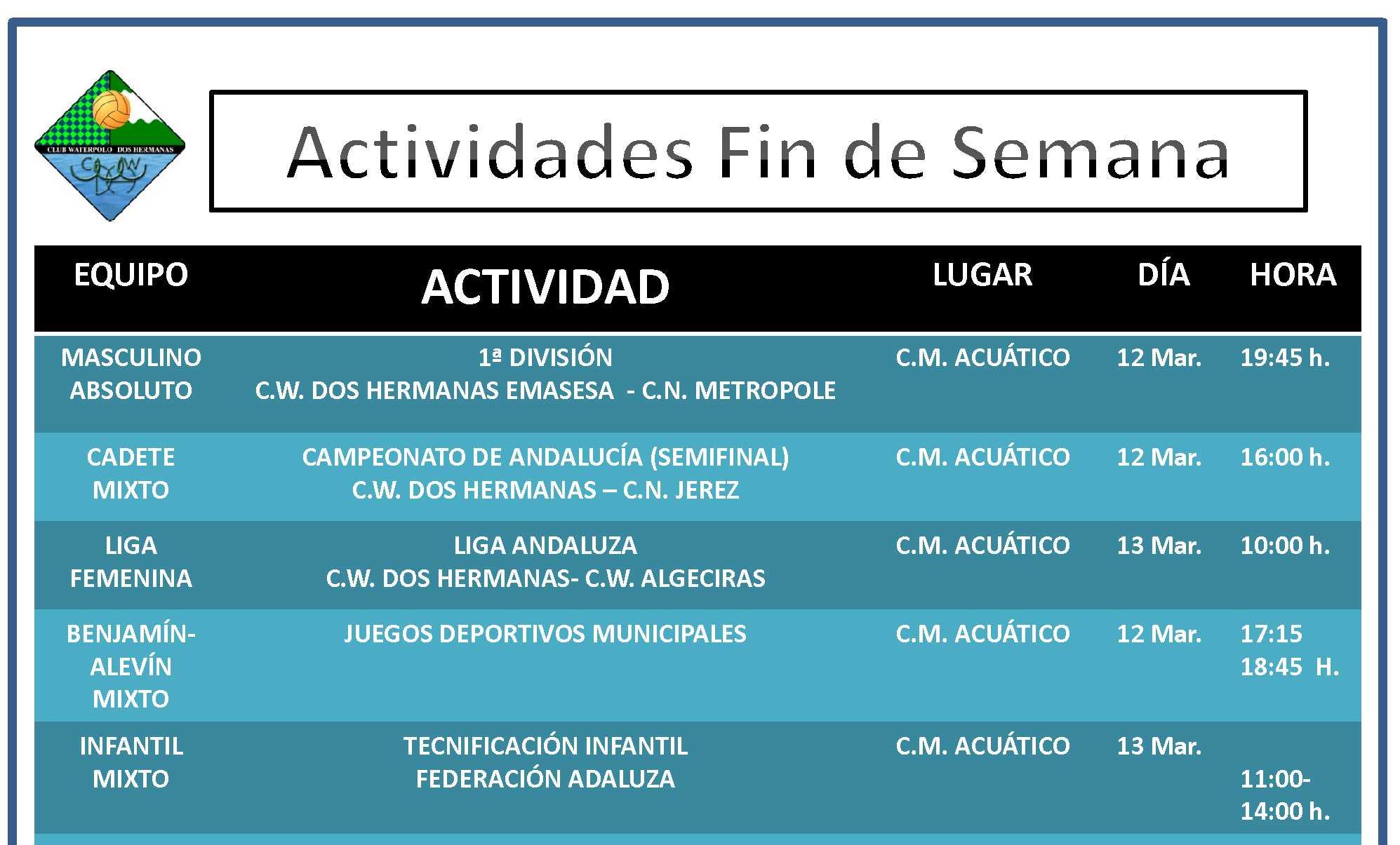 Agenda12-13 Marzo