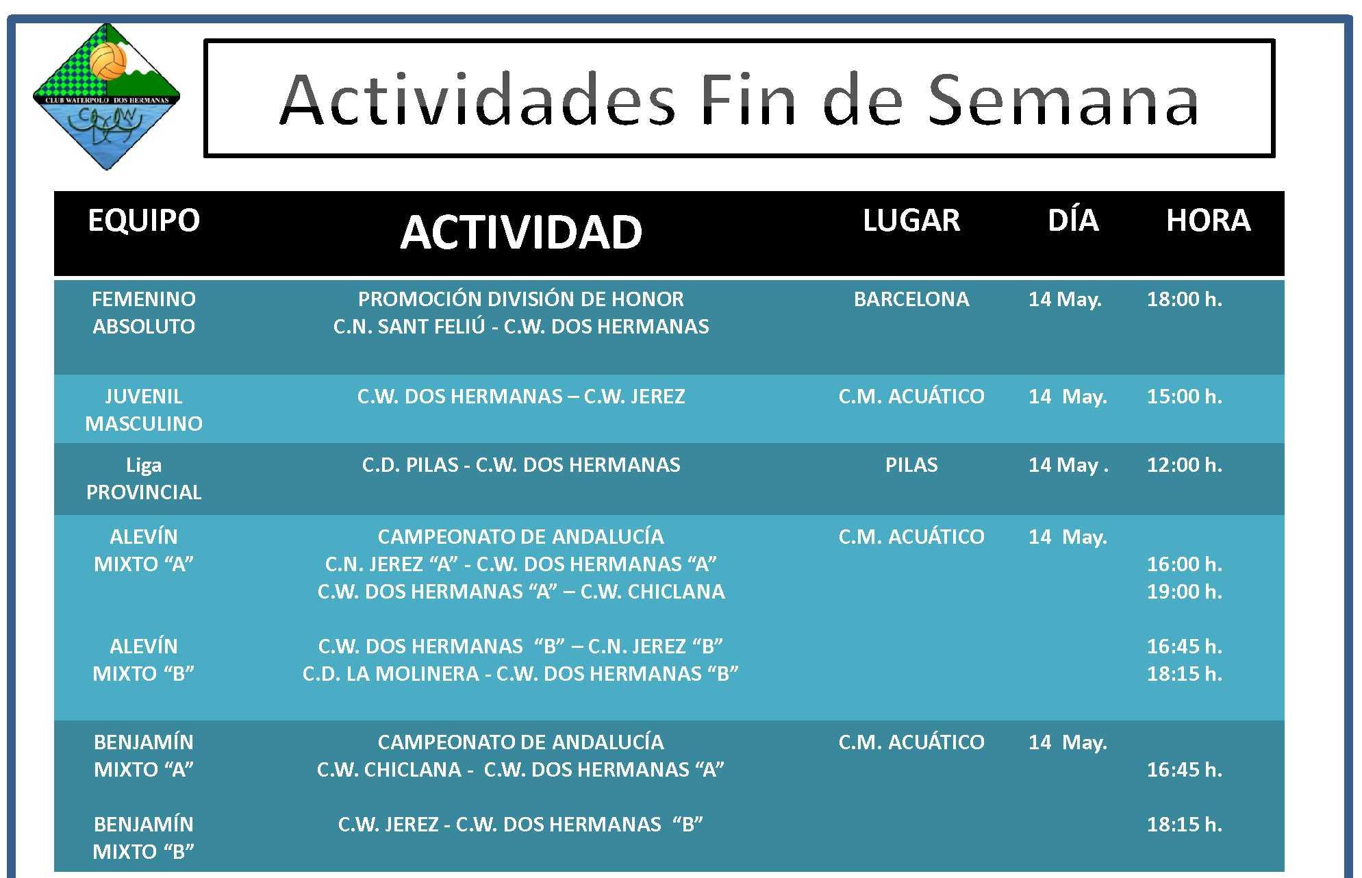 Agenda 14 Mayo